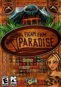 Escape From Paradise Pc New Boxed Vista XP 6 Hugh Islands 1 Epic Adventure