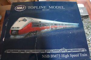 NMJ NSB 73 HO BM73 1:87 INTERCITY HIGH SPEED TRAIN NEW, NEVER OUT OF BOX