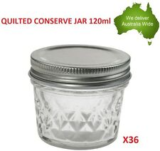 36 Mason Quilted 100ml Jar Jam Wedding Party Candle Making Candy Jars Qualtity