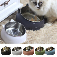 New ListingCute Feeder Pet Dog Cat Feeding Bowl Water Food Dish Protect The Cervical Spine