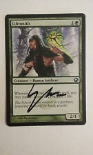 Lifesmith Scars of Mirrodin  signed by Eric Deschamps MTG