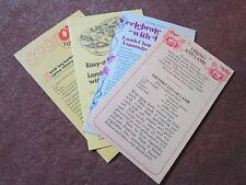 1970's Recipes Collectible Lamb Council Tiny Papers Honey Garlic Ribs LOOK