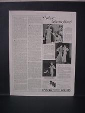 1934 Spencer Corsets Women's Undergarment Underwear Fashion Vintage Print Ad 216