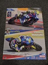 Toni Elias Autographed Poster Lot Superbike AMA / FIM Motoamerica 2016/17 Suzuki