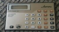 AURORA MINI CREDIT CARD CALCULATOR MD-811 W Case Manual Instructions ESTATE FIND