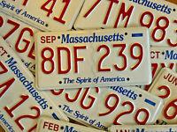 Single Massachusetts License Plate - Good Condition