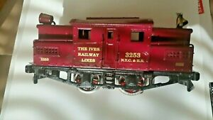 IVES O GAUGE LOCO ENGINE (NOT INCLUDED) 3253 GOLD METALLIC WATER DECALS  LOOK!