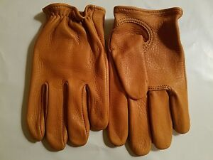 CHURCHILL CLASSIC SHORT WRIST MENS TAN MOTORCYCLE GLOVES