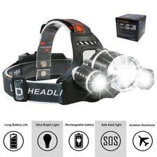 Cree LED Kopflampe Stirnlampe. Extrem hell mit 2x 18650 Akkus, USB-Lade-System