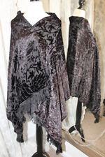 Victorian black silk devore velvet piano shawl Antique Museum 1890s 1880s 1900s