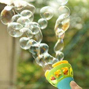 Kids Funny Toy Electric Bubble Gun Fan Machine Maker Outdoor Automatic Blower UK