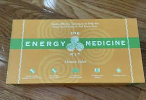 The Energy Medicine Kit by Donna Eden-DVD,CD,BOOKLET,PHOTO CARDS,HEALING CRYSTAL