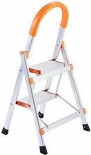 Non-slip 2 Step Aluminum Ladder Folding Platform Stool 330 lbs Load Capacity