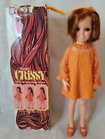 Vintage Ideal Crissy Red Hair Growing Doll Original Orange Outfit Shoes Box 1969