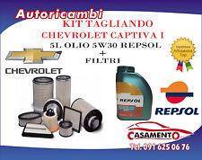 KIT TAGLIANDO 4 FILTRI + 5L OLIO REPSOL 5W30 CHEVROLET CAPTIVA I 2.0 CDTI