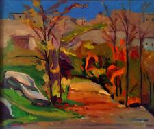 "1977 ""Dzoragyught"" ARMENIA Orig. Landscape Painting RUSSIAN ARMENIAN Artist G.M."