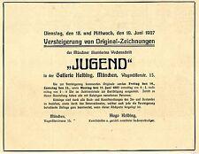 Gallerie Hugo Helbig München Versteigerung Zeichnungen Historische Werbung 1907