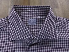 TRUZZI shirt plaid cotton Milano Italy gents authentic Size 43 / 17 NWT