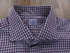 TRUZZI Milano plaid cotton shirt authentic - Size 43 / 17 - NWT