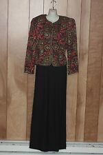 WOMEN'S MAGGY LONDON PAISLEY 2-PIECE OUTFIT-SIZE: 8