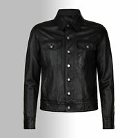 Maßanfertigung Herren Lederhemd HUGO Leder Jacke maßgeschneidert Lammnappa