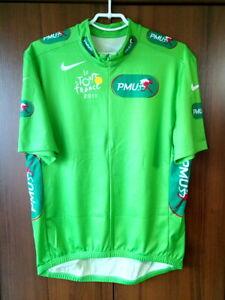 Le Tour de France 2011 Team Nike Green Cycling Jersey Half zip Vintage size XL