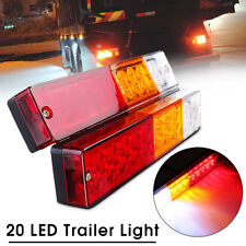 2x CARAVAN TRUCK TRAILER LED STOP REAR TAIL REVERSE LIGHT INDICATOR LAMP 12V 24V
