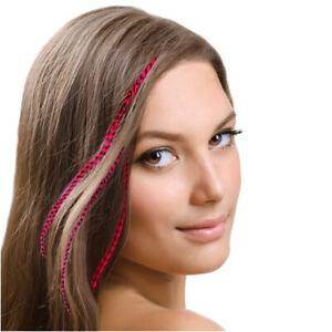 Mia Clip-n-faux Feathers, Animal-Friendly Fake Hair Feathers w/ CLip, Looks REAL