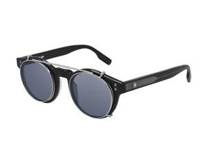 Montblanc Sonnenbrille MB0123S  003 Schwarz - Blau - Mann