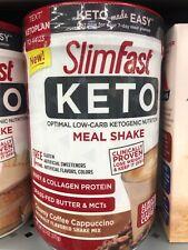SlimFast Keto Meal Replacement Shake Powder, Creamy Coffee Cappuccino, 13.4 oz