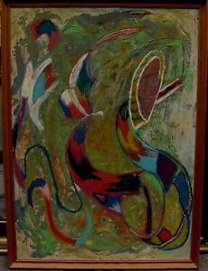 Abstrakte Komposition, unleserlich signiert, um 1970