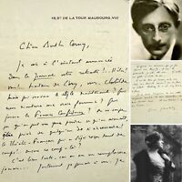 🌓 PAUL GERALDY attristé par la retraite de BERTHE CERNY 1931 Comédie Française