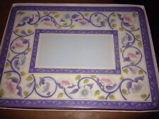 """SIX PIMPERNEL PLACEMATS """"CHINA ROSE"""" 12 X 9"""""""
