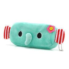 Cute Elephant Plush Pencil Case Pen Pocket Makeup Cosmetic Pouch Bag Zipper NEW