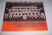 1972 BALTIMORE ORIOLES vs DETROIT Tigers BROOKS ROBINSON Scored With Ticket BOOG