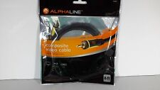 ALPHALINE 10883 Composite Vidio 6' ft. Cable for TV, DVD, Sat Box