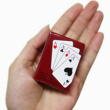 2X NEW DECKS OF MINI PLAYING CARDS MINITURE PLASTIC COATED TINY POKER CARD DECK