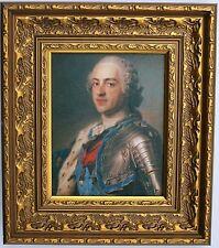 Roi Louis XV de France encadrées Oleograph R568#E reproduction photo
