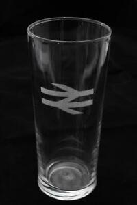 Engraved Railway Pint Glass - BR Double Arrows