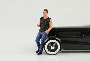 50s 50er Style Cool Mann Figurine Jens 1:18 American Diorama III No Car