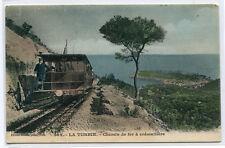 Incline Railroad Train Chemin de Fer Creamaillere La Turbie France postcard