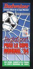 World Cup Soccer--1994 Spanish Slide Schedule--Budweiser