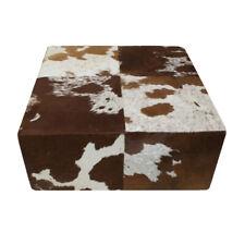 XL Stool Cowskin Braun White Sitting Stool Side Table Coat Stools Cow Fur