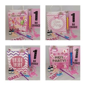 **HEN DO BAG PRE-FILLED**12 ITEMS BRIDE TO BE GLOW WILLY GIFT* BRIDE TRIBE**