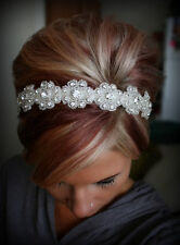 Bridal Headband, Gatsby Art Deco Headband,Tiara, Bridal Hair Accessories, Rhines