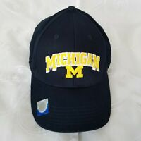 NCAA University of Michigan Wolverines Trucker Cap Baseball Hat Embroidered Blue