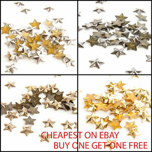 100 & 50pcs Hot Fix Iron on Star Rivets For Clothes Arts & Crafts Jeans Bags