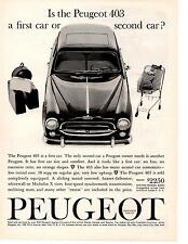1961 PEUGEOT 403  ~  CLASSIC ORIGINAL PRINT AD