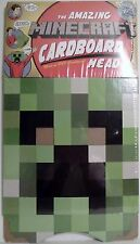 "CREEPER Minecraft 12"" inch Cardboard Mask Head Roleplay Accessory Mojang 2013"