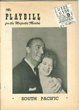 1951 Playbill South Pacific Roger Rico Martha Wright with tickets